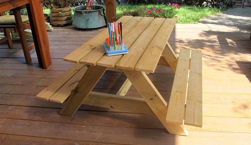 מאוד שולחן קק״ל לילדים מעץ אורן פיני מלא - במבצע עד ראשון בחצות! - באליגם HO-68
