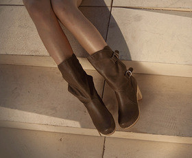 Boots Khaki / Teal - מידות 36-37