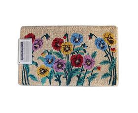 שטיח סף עבה - פרחים וגבעולים