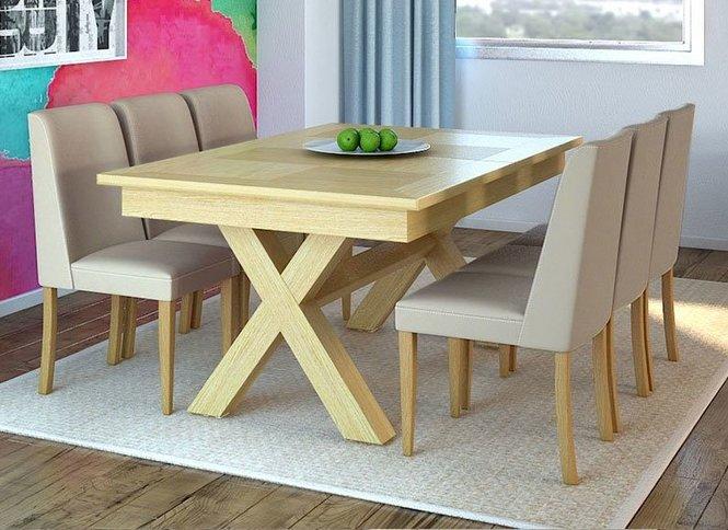 מפוארת פינת אוכל מדגם מיקס + 6 כסאות מדגם עדן - באליגם EM-26