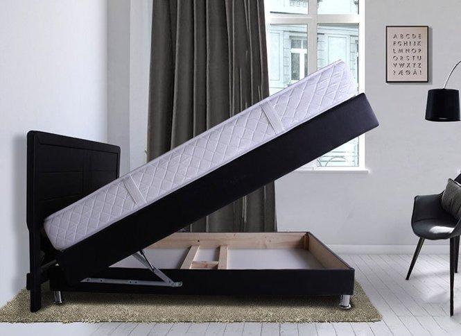 מגניב מיטה זוגית מרופדת + מזרן וארגז מצעים, דגם 6012 - גודל וצבע - באליגם DN-01